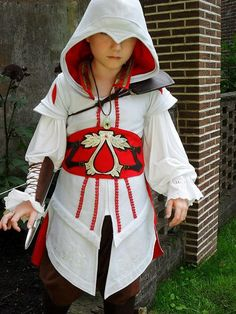 making assassins creed outfits | Chibi Ezio Auditore! *^___^* Assassin's Creed costume made by me ...