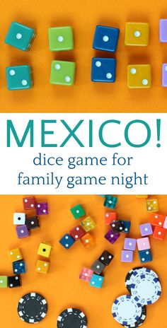 Mexico Dice Game: Strategy & Luck for Families! Fun family dice game that requires a combination of strategy and luck to win. Easy to learn and play with only two dice and great for family game night or large groups. Family Card Games, Fun Card Games, Best Family Games, Games For Kids, Games To Play, Fun New Games, Family Fun Night, Night Kids, Christmas Party Games