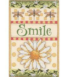 Dimensions Smile Daisy Mini Stmpd X-Stitch Kit: counted cross stitch kits: cross stitch: needle arts: Shop | Joann.com