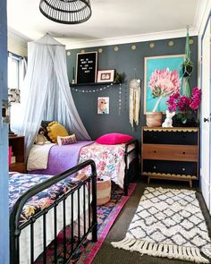 Teen girl bedrooms, stop by this post for that lovely imagininative teen girl room decor, make-over number 1801116204 Bedroom Decor For Teen Girls, Teen Girl Bedrooms, Little Girl Rooms, Teen Shared Bedroom, Childrens Bedroom, Shared Rooms, Room Inspiration, Design Inspiration, Interior Design