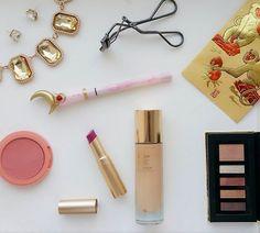 Some products from today's New Years look 🎉   #ysl touche eclat  #shiseido eyelash curler  #lancome palette  #tarte blush  #creerbeaute Sailor moon miracle romance eyeliner  #toofaced la creme lipstick - so berry sexy   #motd #fotd #lotd #makeup #makeupjunkie #makeupaddict #thatsdarling #tet #lixi #newyears #chinesenewyear #lunarnewyear #yearofthemonkey