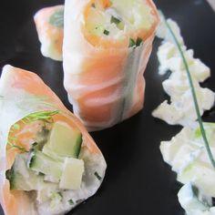 Rouleaux de printemps au saumon fumé façon norvégienne