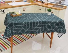 NEO Carré Vert 100% Coton Tissu scandinave moderne lignes géométriques ffB190 -