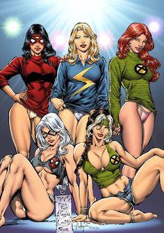 Sexy Marvel Comics   Marvel Comics Boyfriend's T-Shirt Party.   Team Hellions