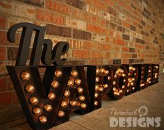 Custom Marquee Sign by ThrowbackDesigns on Etsy