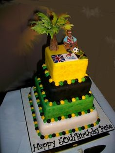 Amazing Jamaican Cakes Personalised Birthday Cards Paralily Jamesorg