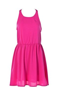 Alexa Hot Pink Dress on OnceAWeekChic.com