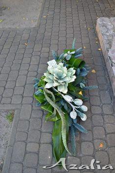 Stylowi.pl - Odkrywaj, kolekcjonuj, kupuj Flower Wreath Funeral, Funeral Flowers, Casket Flowers, Grave Flowers, Funeral Flower Arrangements, Modern Flower Arrangements, Deco Floral, Arte Floral, Casket Sprays