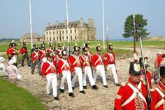 British troops at Fort Niagara.