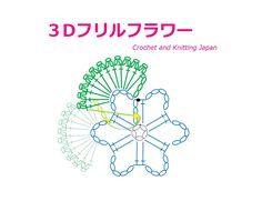 立体的な花の編み方 15【かぎ針編み】How to Crochet 3D Flower https://youtu.be/UeirbPv0q8k 立体的な、3Dフリルフラワーです。ブローチや、コサージュにも! 1段目の、鎖編み5目のスペースに、鎖編み3目を入れた長編み12目の花びらを編みます。 その花びらを巻き込んで立体的な花に編みます。 くさり編み、長編み、引き抜き編みで編みます。 字幕と編み図で解説しています。 ★編み図は、こちらをご覧ください。 http://crochet-japan.blogspot.jp/2016/11/how-to-crochet-3d-flower_26.html