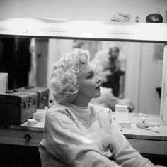 Marilyn In Makeup Room