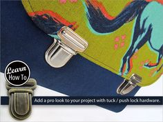 How to Insert a Tuck or Push Lock Closure | Sew4Home