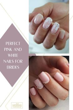 30 Perfect Pink And White Nails For Brides ♥ We have collected temeless ideas of pink and white nails, which enchantingly complete the image of bride. Enjoy the ideas in our gallery! #wedding #nails #weddingforward #bride #weddingbeauty #PinkAndWhiteNails #bridalnails Wedding Looks, Perfect Wedding, Wedding Day, Bride Nails, Wedding Nails, Sophisticated Nails, Perfect Pink, Simple Nail Designs, Wedding Beauty