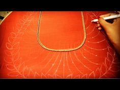Kurti Neck Designs, Blouse Designs, Aari Work Blouse, Doraemon Cartoon, Hand Embroidery Videos, Rangoli Designs, Hand Designs, Outline, Embroidery Designs