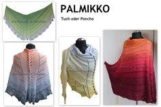 Strickanleitungen - Anleitung PALMIKKO - Tuch oder Poncho - ein Designerstück von Mrs-Postcard bei DaWanda