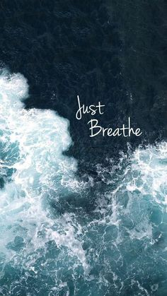Atmen Sie einfach – Just breathe – – – breathe Words Quotes, Me Quotes, Motivational Quotes, Sayings, Calm Quotes, Relax Quotes, Ocean Quotes, Phone Quotes, Beach Quotes