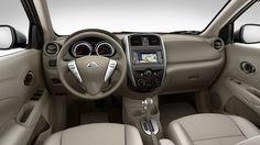 2015 NISSAN VERSA® Sedan SL shown in Sandstone Cloth.