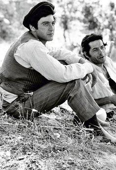fuckindiva:  On the set of The Godfather, 1972