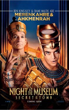 """Night at the Museum: The Secret of the Tomb"" - Security guard Larry (Ben Stiller) spans the globe, uniting favorite and new characters while embarking on an epic quest to save the magic before it is gone forever. Info and image credit: IMDb."