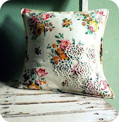 granny chic pillow