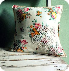 granny chic pillow