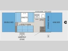Floorplan - 2011 Jayco Jay Series 1006