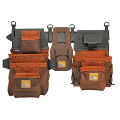 ABCOGEAR Elite Series Pro Framer's Tool Belt Left-Handed Hammer Holder Layout creates an ideal storage space for extra fasteners. Work Belt, Tool Pouch, Utility Pouch, Woodworking Projects Diy, Tool Storage, Left Handed, Cowhide Leather, Leather Working, Tools
