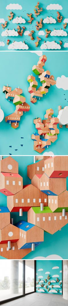 An Airborne Village of Stacking Vertical Homes at the Brooklyn Children's Museum