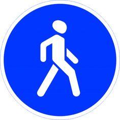 """Предписывающий дорожный знак """"Пешеходная дорожка"""" устанавливается на участках дорог, где расположена пешеходная дорожка. Здесь движение автомобилей запрещено. Это самое безопасное место для пешеходов. Предписывающий дорожный знак """"Пешеходная дорожка"""" можно купить оптом и мелким оптом в зависимости от надобности. Поставщик: Магазин Охраны Труда OhranaTruda21.ru."""