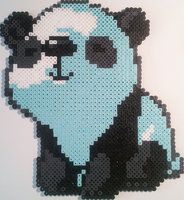 Panda Bead Art by Exodecai101