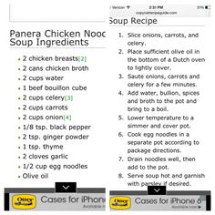 panera chicken noodle soup recipe