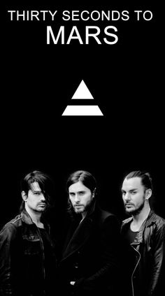 30 seconds to Mars or 30STM Jared Leto Shannon Leto Tomo Milicevic Triad b&w wallpaper
