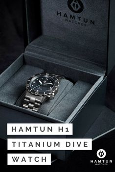 Ross Davis is raising funds for Hamtun Watches - Grade 5 titanium automatic dive watch on Kickstarter! High specification watches at a price anyone can afford. Titanium case, ceramic bezel, sapphire crystal and automatic movement. Affordable Automatic Watches, Best Affordable Watches, Automatic Watches For Men, Best Cheap Watches, Best Watches For Men, Cool Watches, Best Sports Watch, Titanium Watches, Seiko Diver