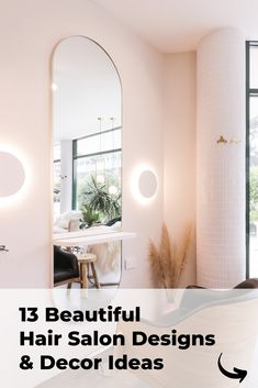 The most beautiful and modern hair salon decor ideas and hair salon designs. Find hairdressing salon pictures of interior design, salon layouts, hair salon decorations, hair styling stations, receptions, and salon waiting areas. Small Beauty Salon Ideas, Small Salon Designs, Small Hair Salon, Home Beauty Salon, Home Hair Salons, Hair Salon Interior, Design Salon, Beauty Salon Decor, Salon Interior Design