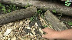 Bauerngarten anlegen  stabiles Unkrautvlies verhindert Wildkräuter in den Kreuz-Wegen. So ist Jäten unnötig. Abgedeckt ist das Vlies mit Holz-Hackschnitzeln.