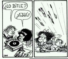 #Mafalda Mafalda Comic, Mafalda Quotes, Humor Grafico, Betty Boop, Comic Strips, The Beatles, Rock And Roll, Playing Cards, Geek Stuff