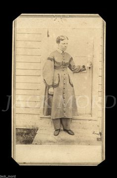 """1860s CDV Photo Woman in Pants ~ Civil War Female Doctor ~ """"LOVE"""" on Negative in Collectibles, Photographic Images, Vintage & Antique (Pre-1940), CDVs 