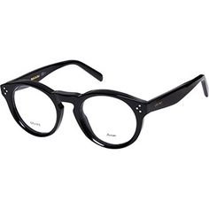 Celine Black Round Optical Frames
