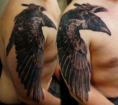 Raven tattoo by Diyan Ivanov at Tattoo Sanctuary, Southampton, UK - Imgur