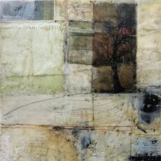 still untitled 12x12 inches encaustic mixed media   February 2014