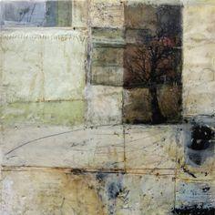 untitled, encaustic mixed media 12x12 inches Bridgette Guerzon Mills