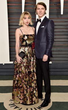Zoe Kazan & Paul Dano from Vanity Fair Oscars Party 2016: What the Stars Wore | E! Online