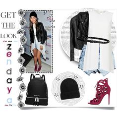 # Get The Look 04. ~ Zendaya ♡ by sarkata-boo-bear on Polyvore featuring Elizabeth and James, Topshop, MICHAEL Michael Kors, Linea Pelle and Old Navy