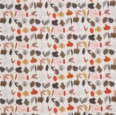 off-white flower autumn leaf  scetch fabric by Dear Stella from the USA 4