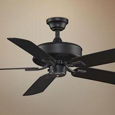 """50"""" Fanimation Edgewood Black All-Weather Ceiling Fan"""