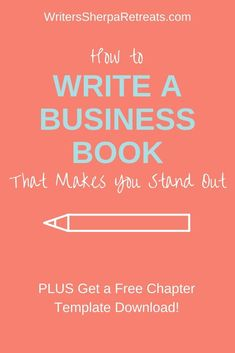 How to Write a Book that Makes Your Business Stand Out— Click to get a free nonfiction book chapter template! Writing tips, writing inspiration, make money writing, become an author, write a book, write a nonfiction book, write a self help book Make Money Writing, Writing Help, Writing A Book, Book Outline, Becoming A Writer, Writer Tips, Writers Notebook, What Book, Learning To Write