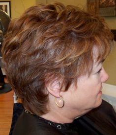 Photos of real hair behind my chair with a brief description of my color, cut, and type of hair my client has. Short Hairstyles Fine, Short Haircut Styles, Short Layered Haircuts, Hairstyles Over 50, Bob Hairstyles, Girl Short Hair, Short Hair Cuts, Textured Haircut, Natural Hair Styles For Black Women