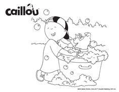 Caillou Puppy Fun – Coloring Sheet!
