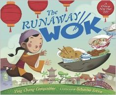 The Runaway Wok: A Chinese New Year Tale by Ying Chang Compestine Illustrated by Sebastia Serra ATOS Book Level: Interest Level: AR Points: Happy Chinese New Year, Chinese New Year Crafts, Music Activities, Activities For Kids, Preschool Themes, Preschool Learning, Holiday Activities, Dragon Dance, New Year's Crafts