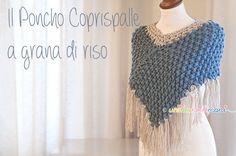 Lavori a Maglia: il Poncho Coprispalle ai ferri. Spiegazioni e Schema #knittingproject